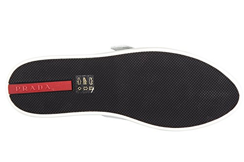 Prada chaussures baskets sneakers femme en cuir noir