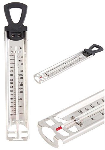 STAINLESS KITCHEN CRAFT STAINLESS STEEL 30CM COOKING JAM THERMOMETER KITCHEN Elite