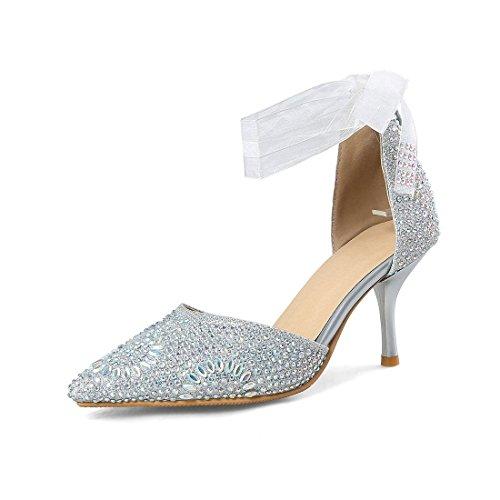 hollow sandali sandali alto signore acqua sandali moda i fibbie tacco argenteo sandali trentotto sexy sposa trapano RnpPvqn