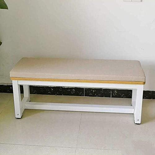 LRuilo 5 cm dik bankkussen lange stoelpads 2 of 3 zitsbank stoel Chusion Pad voor tuinmeubilair Swing Patio Indoor Outdoor Beige 8030cm