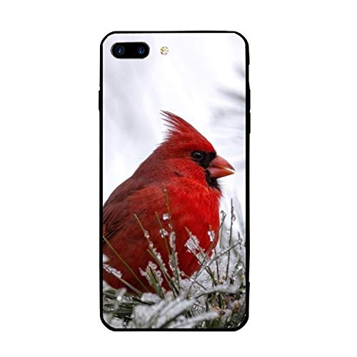iPhone 8 Plus Case Slim-Fit Anti-Scratch Shock Proof Print PU Case for iPhone 8 Plus(5.5 inch) - Cardinal - Cardinals Pumpkin