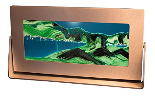 (Exotic Sands Moving Sand Pictures - Md62 Medium Silver Frame (Summer Turquoise) Great Men's and Women's Gifts. Voted America's Best Gift. #1 Gift Site!)