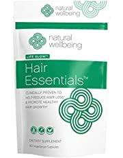 Natural Wellbeing - Hair Essentials Natural Hair Growth Supplement for Women and Men - Reduce Hair Loss & Promote Healthy Hair Growth - 90 Count