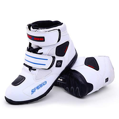 WERT Herren-Motorrad-Boot Sport Rüstung Heavy-Duty-Motocross On-Road Stiefel Komfortable Short Knöchelschuhe Motorrad…