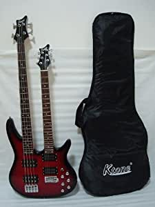 ktone 6 4 string electric double neck guitar with padded gig bag musical instruments. Black Bedroom Furniture Sets. Home Design Ideas
