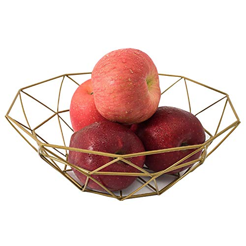 Fruit Stand Vegetables Serving Bowls Basket Holder for Kitchen Counters,Table Centerpiece,Farmhouse Decor,Party,Holiday Decoration,Metal Iron Wire,Modern Creative Stylish Single Tier Dish for Banana from Pimuza