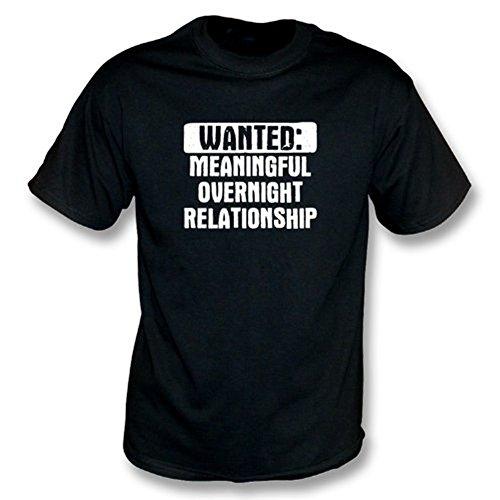 TshirtGrill Gewünscht: Bedeutungsvolles Nacht-RelationshipT-Hemd, Farbe- Schwarzes