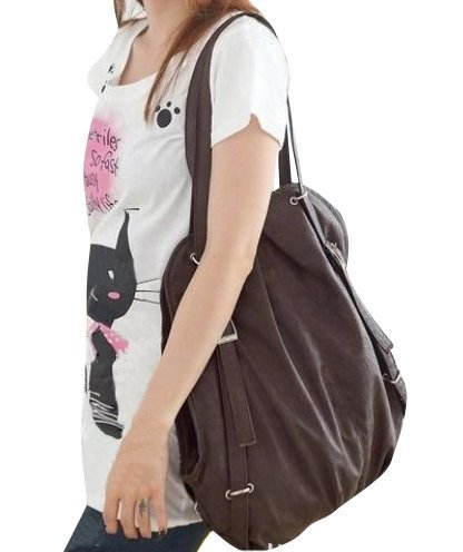 Cute Casual Style Backpack School Bag Tote Handbag Purse, Faux Leather Shoulder Hobo Bag Satchel for Girls, Bags Central