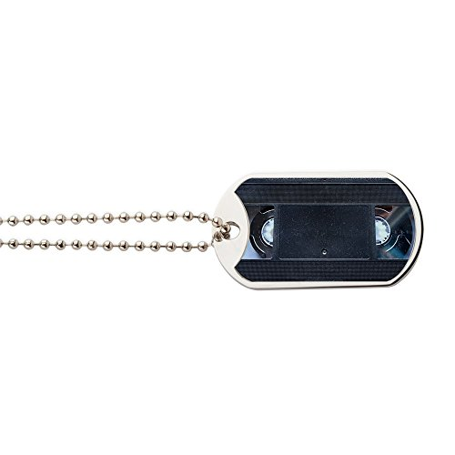 Clutch Bag - Military Style Dog Tag, Stainless Steel with Chain ()
