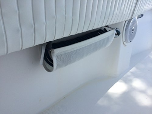 South Wind Designs Hose Hammock - Coiled Washdown Hose Storage (White, Stainless Screws)