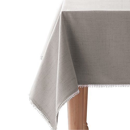 """Lenox French Perle Solid Tablecloth, 60 x 84"""""""