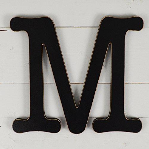 11.5'' Typewriter Wall Decor Letter ''M''- black