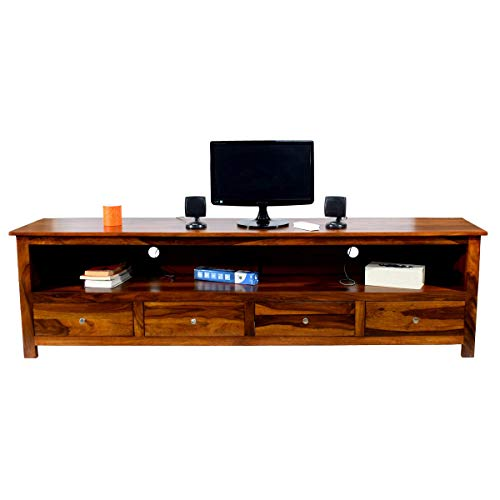 Sheesham Wood 4 Draw TV Unit Cabinet