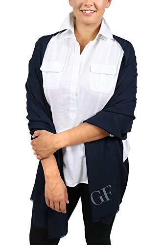 Gianfranco Ferre Navy bluee Pashmina Scarf for womens
