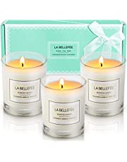 LA BELLEFÉE Scented Candle 100% Soy Wax Gift Set Travel Tin Candles