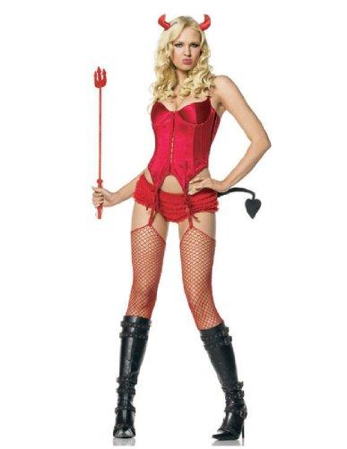 Lingerie Devil Costume - Medium/Large - Dress Size 8-12 (Devil Dress Up)