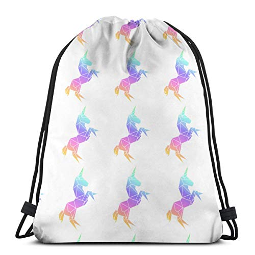 Unicorn Color Customized Sports Pumping Rope Bag Is Suitable For Unisex Outdoor Travel -