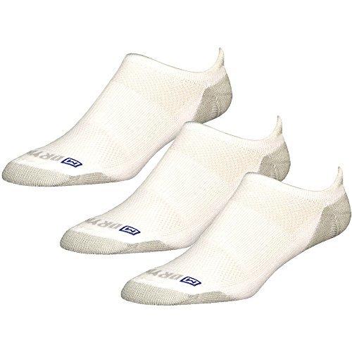 - Drymax Socks Run Lite-Mesh No Show Tab - White/Gray M 11-13 - 3 Pack