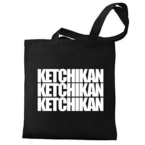 Bag three Canvas words Ketchikan Eddany Ketchikan Tote Eddany qxt00g