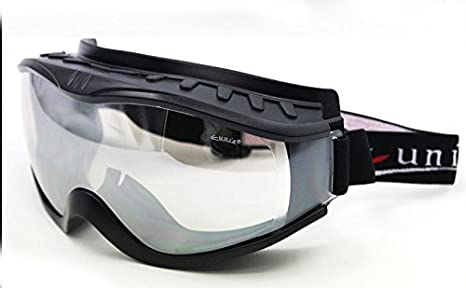 Black Frame Clear Lens Fit Over Glasses Anti-fog Riding Goggles