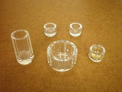 【クリスタルガラスの仏具】 クリヤー 2.5寸