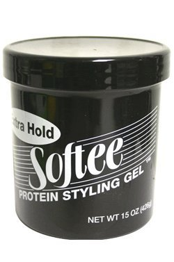 Softee Protein Styling Gel - Extra Hold, Alcohol-Free Black 15 - Gel Styling Protein