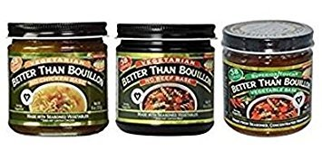 Better than Bouillon No Beef Base, No Chicken Base, Vegetable Base, (Variety Pack) -