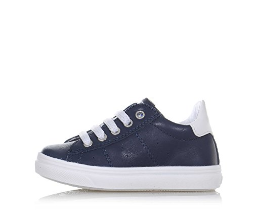 CIAO BIMBI - Chaussure à lacets bleue en cuir, soignée dans tous ses détails, garçon, garçons