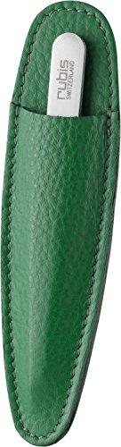 Rubis Switzerland 1K102 Classic Slant Tweezers in Leather Sleeve