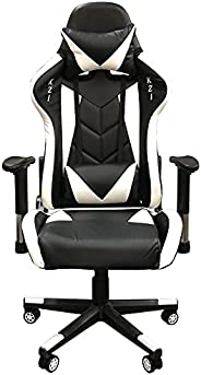 Cadeira Gamer Escritório Ergonômica Giratória Massageadora (Preta e Branca)
