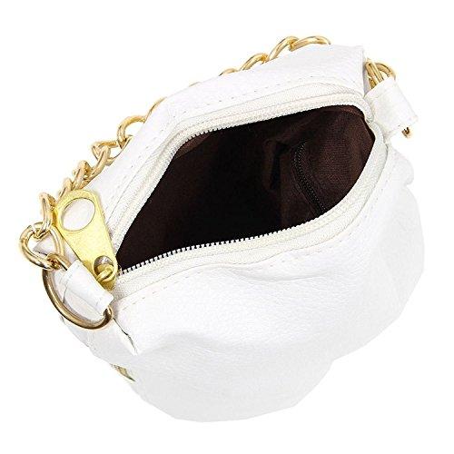 TOOGOO(R) Sacchetto popolare della sacchetto della catena del sacchetto della borsa di nuovo stile occidentale bianco Bianco