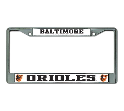MLB Baltimore Orioles Chrome License Plate Frame