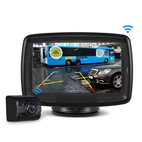 AUTO-VOX Digital Wireless Backup Camera and Monitor Kit TD-2, Stable Signal Reverse Camera Kit with Super Night Vision, IP68 Waterproof Rear View Camera for Truck, RV, Van, Trailer ()