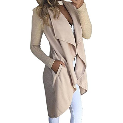 Women 3/4 Sleeve Knitted Cardigan Outwear Coat Sweater - 3