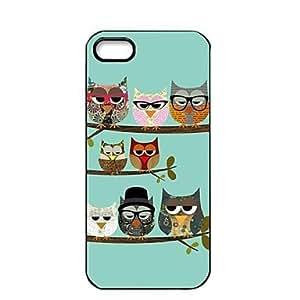 Cubierta del caso del búho Elonbo J1F lindo para iPhone 5/5S