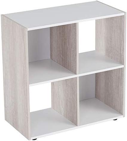 Estantería Cubo de Madera MDF Blanca contemporánea, de ...