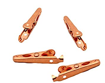 Amazon.comSolid Copper Alligator Clips (4 pack) Crocodile Jaw