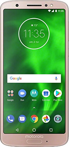 Motorola G6 - 32 GB - Unlocked (AT&T/Sprint/T-Mobile/Verizon) - Oyster Blush - (U.S. Warranty) - PAAE0001US (Pink Straight Talk Phones)