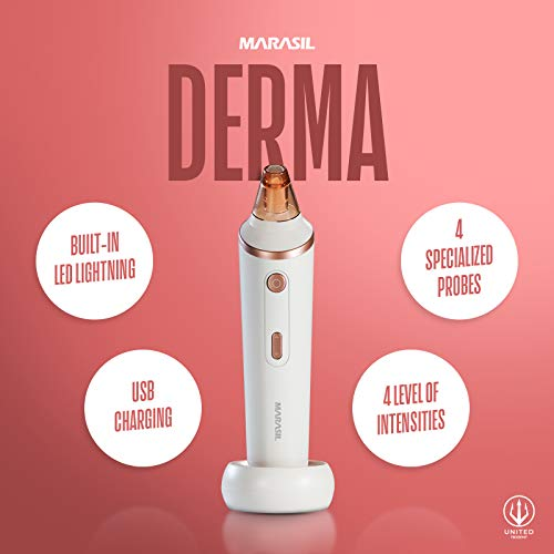 Blackhead Remover Vacuum Pore Vacuum – Suction Facial Pore Cleanser Wirelessly Charge 4 Types of Head Different Purposes – 4 Levels Of Intensity Woman Man