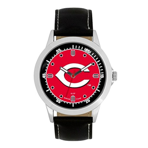 Game Time MLB- Cincinnati Reds Player Series Watch, Black, 44.00mm
