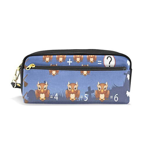 (Pencil Case/Makeup Bags Game Count The Owl in Halloween Big Capacity Portable Pencil Bag for College)