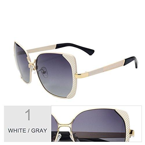De Enormes Metal Gafas Uv400 Mujer Sol Unas Gris Butterfly TIANLIANG04 Sol Bastidor Gray Gafas Rojo Gafas Mujer White Azul Polarizadas De Mujer De De PxE6v8q8w