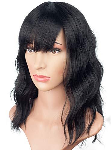 Fashion Short Bob Shoulder Length Wavy Curly Natural Full Hair Wigs