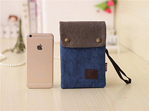 2 Lienzo Teléfono Cajero Llaves Vintage Pequeño Coin Case Niñas Crossbody Embrague Monedero 1 En Bolsa Adolescentes Bolsos Celular Azul Mujeres Titular Denim Hombro De Bolsas Mini ZXtqRwFpxn