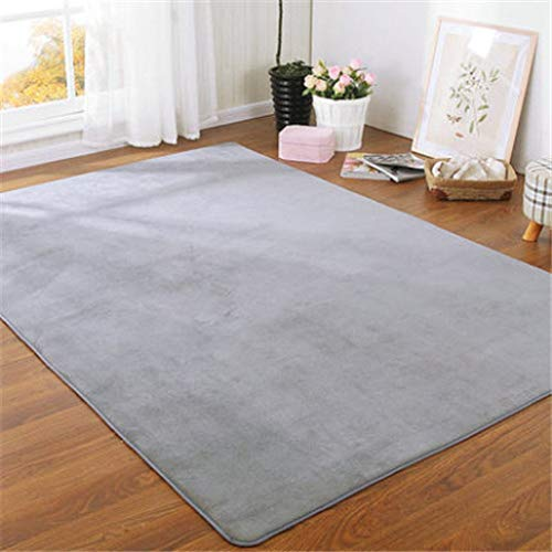 nOnioX Living Room Bedroom Rugs Kids Room Crawl Mats Solid Color Lamb Velvet Carpets Thicken Soft Home Decor Pads from nOnioX