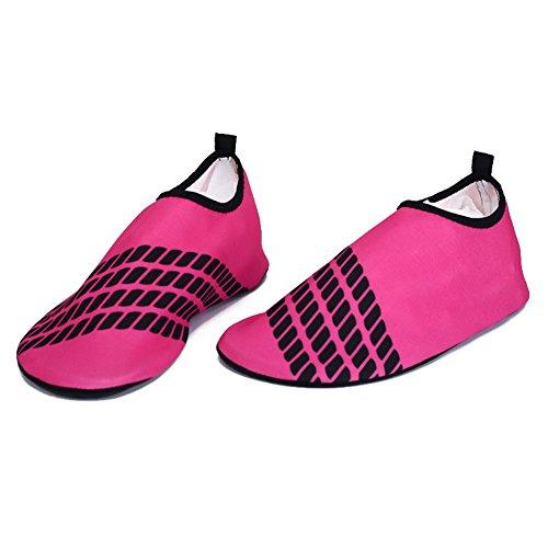 Scoglio Per Adulto LXQGR Anti Immersioni Snorkeling Surf Pink Scivolo Scarpette Neoprene Da OwBg4