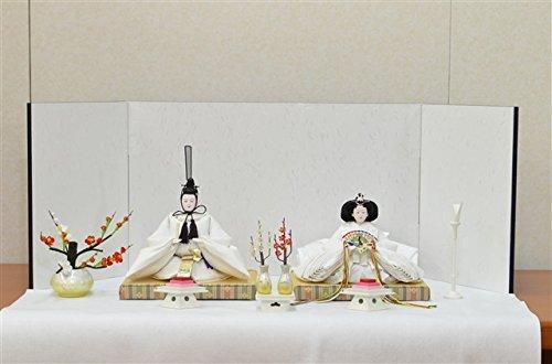 ひな人形 きよら スノーホワイト コンパクト中型 フルタイプ 親王毛せん飾りkw38wh 131178   B01N9OCCWP