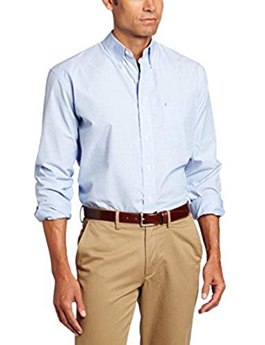 IZOD Men's Performance Natural Stretch Solid Long Sleeve Shirt (Regular and Slim Fit)
