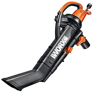 WORX WG505 TRIVAC 12 Amp Yard-in-One Blower/Mulcher/Vacuum with 210 MPH / 350 CFM Output, Includes 10 Gallon Bag