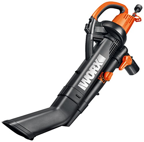 WORX WG505 TRIVAC 12 Amp Yard-in-One Blower/Mulcher/Vacuum with 210 MPH / 350 CFM Output, Includes 10 Gallon Bag (Grass Vacuum)